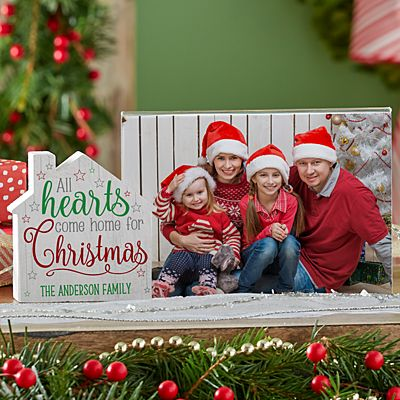 All Hearts Come Home for Christmas House Frame