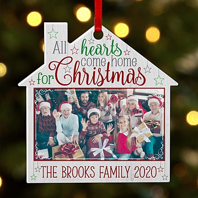 All Hearts Come Home for Christmas Photo House Ornament