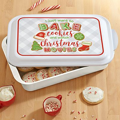 Bake Cookies and Watch Christmas Movies Baking Pan