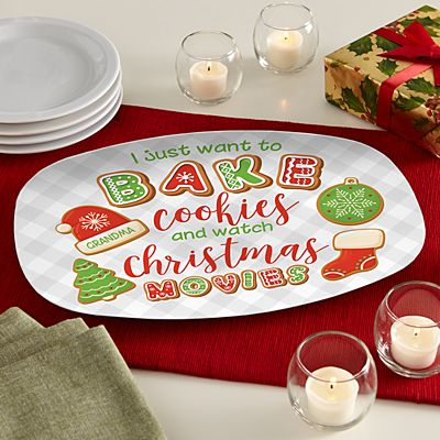 Bake Cookies and Watch Christmas Movies Platter