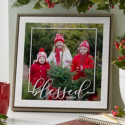 Blessed Photo Shimmer Wood Wall Art