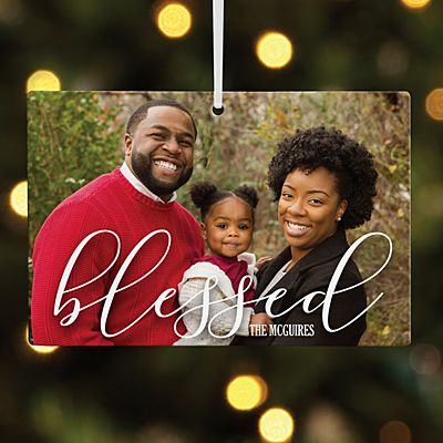 Blessed Photo Rectangle Ornament