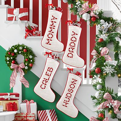 Candy Cane Name Stocking