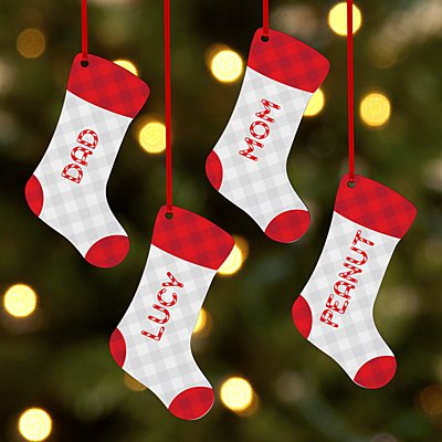 Candy Cane Name Stocking Bauble