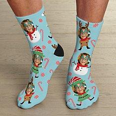 Christmas Faces Photo Socks