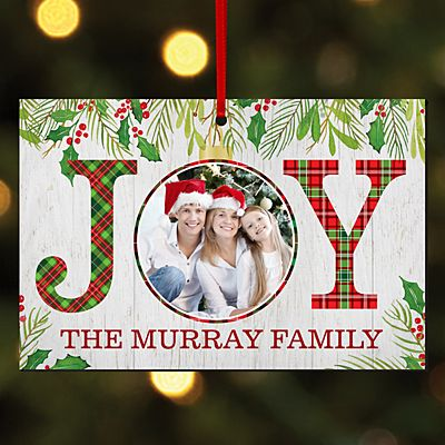 Christmas Joy Photo Rectangle Ornament
