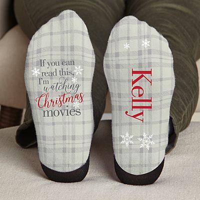 Christmas Movie Watching Socks