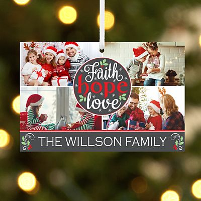 Faith, Hope, Love Photo Rectangle Ornament