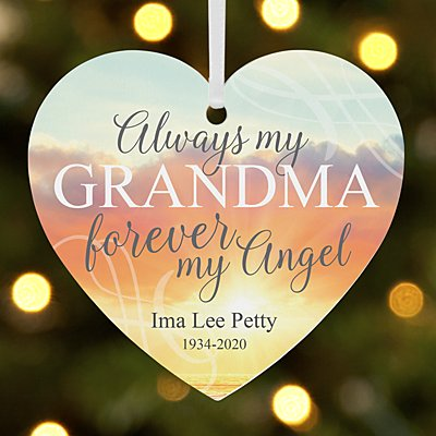 Forever My Angel Memorial Heart Ornament