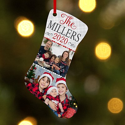 Happy Holidays Photo Stocking Ornament