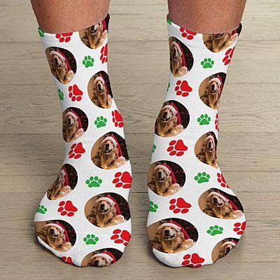 Happy Pawlidays  Photo Socks