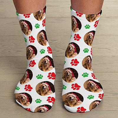 Happy Pawlidays  Photo Socks