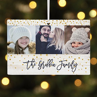 Holiday Cheer Photo Rectangle Ornament