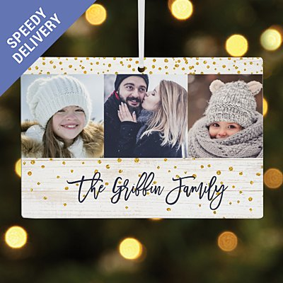Holiday Cheer Photo Rectangle Bauble