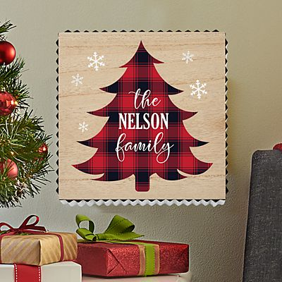 Holiday Greetings Metal Edge Wood Wall Art