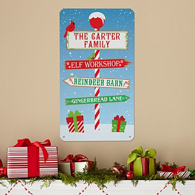 Holiday Home Metal Sign