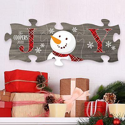 Joyful Snowman Mini Puzzle 3 Piece Set