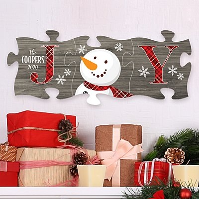 Joyful Snowman Mini Puzzle 3 Piece Set