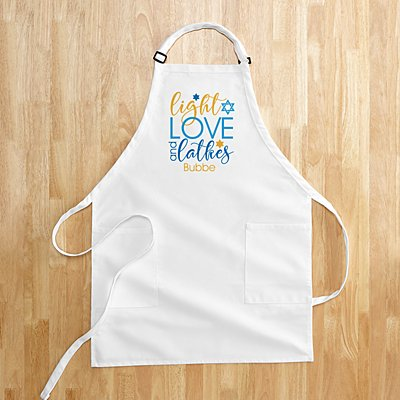 Light, Love and Latkes Hanukkah Apron