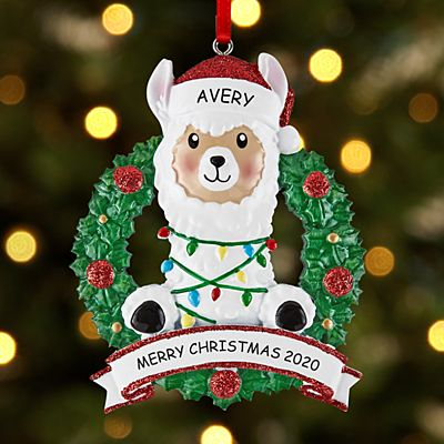 Llama in Lights Ornament