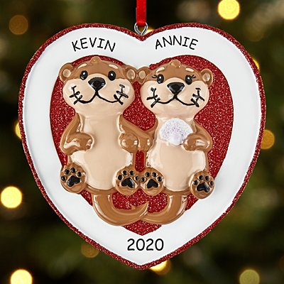 Otter Love Couple Ornament