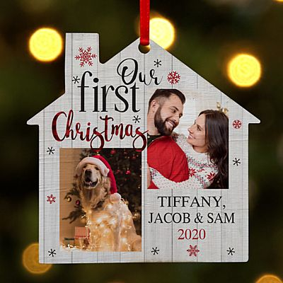 Our First Christmas Photo House Ornament