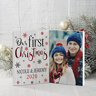 Our First Christmas Photo Panel