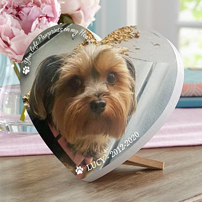 Pet Memorial  Photo Mini Wood Heart