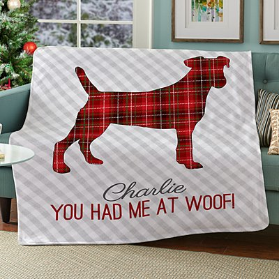 Perfectly Plaid Pet Plush Blanket