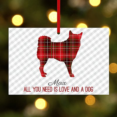 Perfectly Plaid Pet Rectangle Bauble