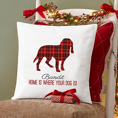 Perfectly Plaid Pet Throw Pillow