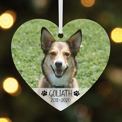 Pet Memorial Photo Heart Ornament