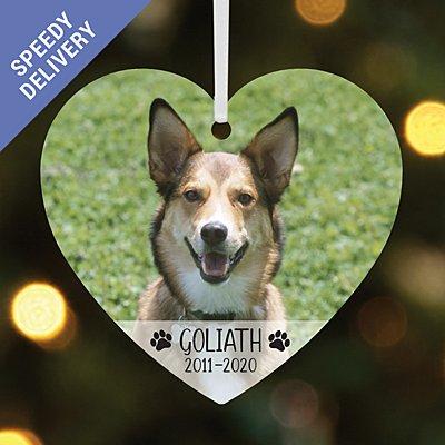 Pet Memorial Photo Heart Bauble