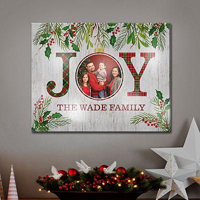 TwinkleBright™ LED Christmas Joy Photo Canvas