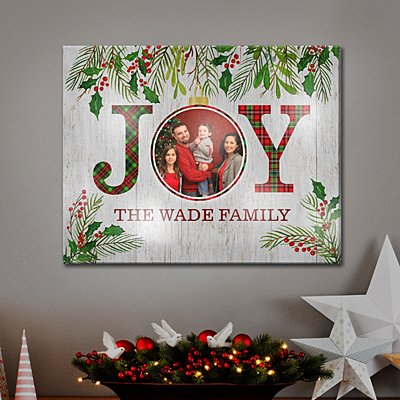 TwinkleBright™ LED Christmas Joy Photo Canvas
