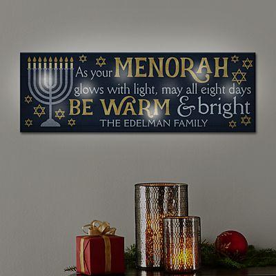 TwinkleBright™ LED Happy Hanukkah Canvas