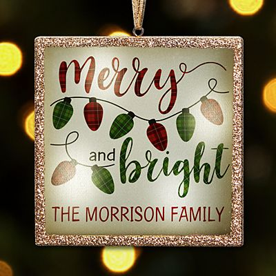 TwinkleBright™ LED Merry and Bright Ornament