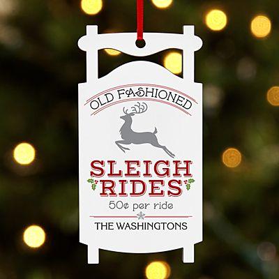 Vintage Sleigh Ride Sled Ornament