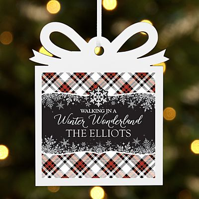 Walking in a Winter Wonderland Present Ornament