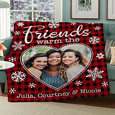 Warms the Heart Photo Plush Blanket