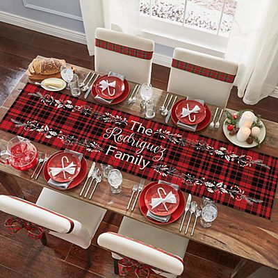 Winter Plaid Table Runner
