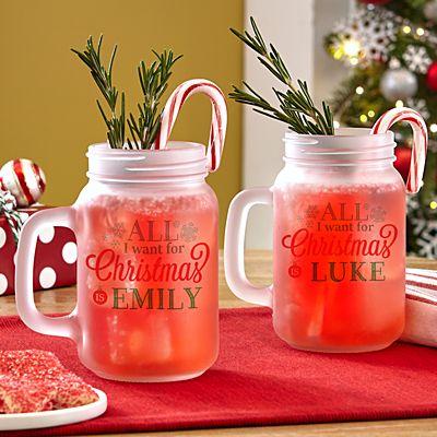 All I Want for Christmas Mason Jar