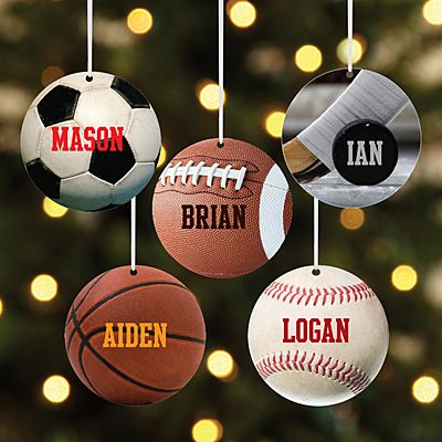 All Star Sports Round Ornament
