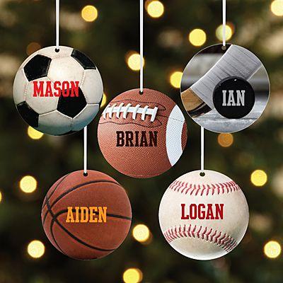 All Star Sports Round Ornament