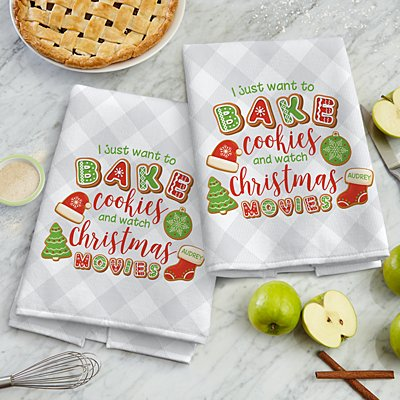 Bake Cookies and Watch Christmas Movies Towel