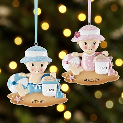 Beach Baby Ornament