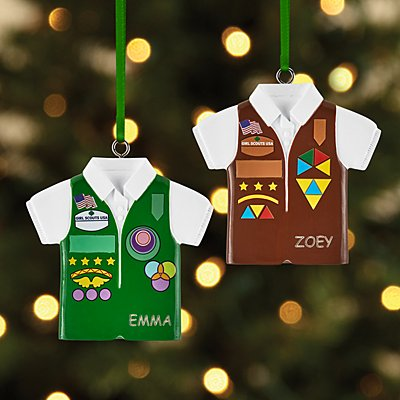 Brownie and Girl Scouts Ornament