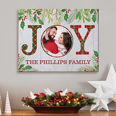Christmas Joy Photo Canvas