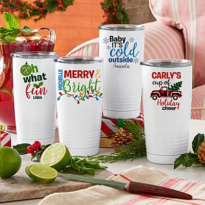 Colorful Christmas Insulated Tumbler