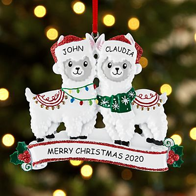 Fa La La Llama Couple Ornament